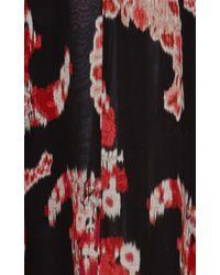 Giambattista Valli Black Printed Silk-georgette Maxi Skirt