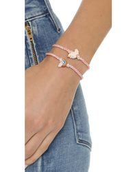 Venessa Arizaga | Red Rainbow + Unicorn Friendship Bracelet Set - Strawberry | Lyst