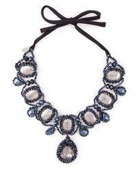 Night Market | Blue Crystal Bead Necklace | Lyst