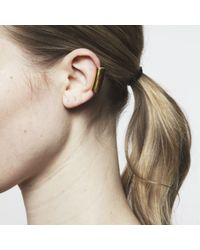 Maya Magal | Metallic Long Ear Cuff Gold | Lyst