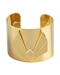 A.V. Max - Metallic Gold Metal V Cuff - Lyst