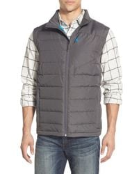 Spyder - Gray 'dolomite' Water Resistant Quilted Vest for Men - Lyst