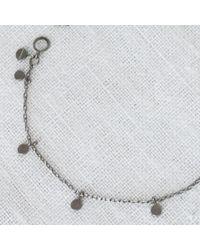 Sia Taylor | Metallic Big Dots Bracelet Silver | Lyst