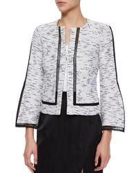 Nanette Lepore - Natural Graphic Tweed Jacket - Lyst