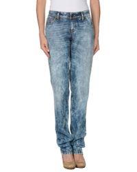 Just Cavalli | Blue Denim Trousers | Lyst