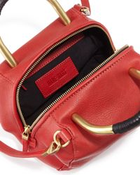 Hare + Hart - Red Mini Leather Satchel Bag - Lyst