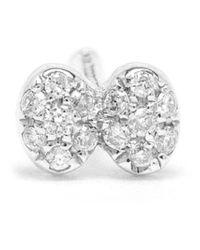 Yvonne Léon - Metallic Diamond Dragonfly Stud Earring - Lyst