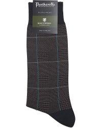 Pantherella | Escorial Wool Patchwork Socks, Men's, Brown for Men | Lyst