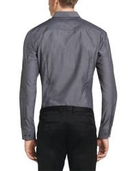 HUGO | Gray Slim-fit Shirt In Cotton: 'elisha' for Men | Lyst