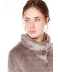 Liu Jo | Gray Faux Fur | Lyst