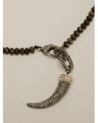 Roni Blanshay - Brown Tooth Charm Necklace - Lyst