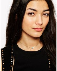 ASOS - Blue Eye Choker Necklace - Lyst