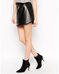 House of Harlow 1960 - Black Pearl Faux Leather Mini Skirt - Lyst