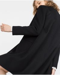Zara | Black Hand Made Coat | Lyst