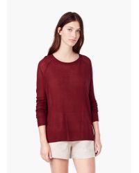 Mango - Purple Fine-knit Sweater - Lyst