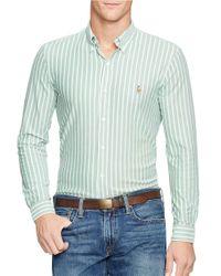 Polo Ralph Lauren | Green Striped Oxford Sportshirt for Men | Lyst