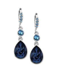 Givenchy - Blue Swarovski Crystal Teardrop Earrings - Lyst