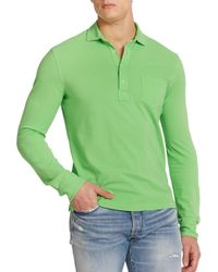 Polo Ralph Lauren - Green Featherweight Mesh Estate Long-sleeve Polo for Men - Lyst