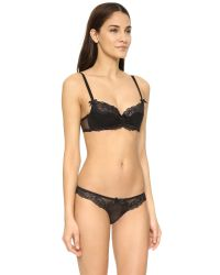 L'Agent by Agent Provocateur Black Rosella Padded Balcony Bra