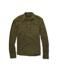 Polo Ralph Lauren | Green Slub Cotton Jersey Pullover for Men | Lyst