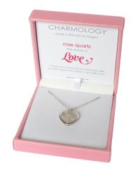 Charmology - Pink Love Rose Quartz Heart Necklace - Lyst