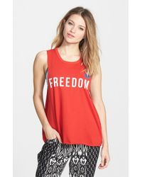 Rip Curl | Red 'freedom' Muscle Tee | Lyst