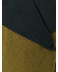 Etro - Green Wide Lapels Reversible Coat - Lyst