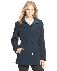 Gallery | Blue Silk Look Anorak | Lyst