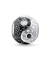 Thomas Sabo Metallic Karma Bead Yin-yang, Pavé