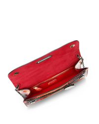 Christian Louboutin Orange Riviera Tie-Dye-Effect Patent-Leather Clutch