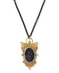 Armenta - Black Old World Layering Charm Necklace - Lyst