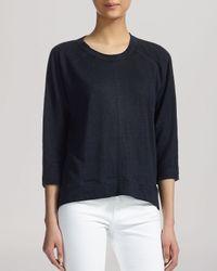 Whistles - Blue Tee - Holly Three-quarter Sleeve Linen - Lyst