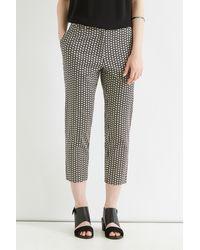 Oasis Gray Geo Print Crop Trouser