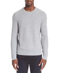 Rag & Bone Gray 'avery' Cotton Crewneck Sweater for men