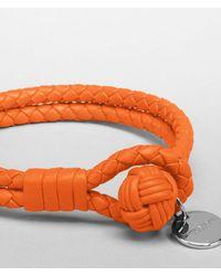 Bottega Veneta - Orange Tangerine Intrecciato Nappa Bracelet - Lyst