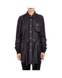 Hood By Air Black Poplin Pleated Shirt