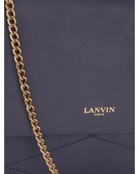Lanvin | Blue Sugar Mini Leather Shoulder Bag | Lyst