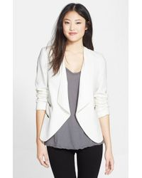 Halogen White Zip Pocket Jacket