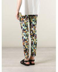 KENZO   Multicolor 'torn Flowers' Skinny Jeans   Lyst