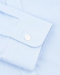Jaeger Blue Gingham Modern Non-iron Shirt for men