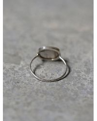 Free People - Metallic Melissa Joy Manning Womens Labradorite Slice Ring - Lyst