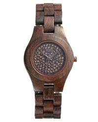 WeWood | Brown 'moon Crystal' Wood Bracelet Watch | Lyst