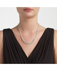 John Lewis | Metallic Matte Split Chain Necklace | Lyst