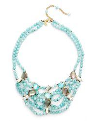 Alexis Bittar Blue Multistrand Collar Necklace