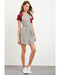 Forever 21 - Gray Heathered Colorblock Dress - Lyst