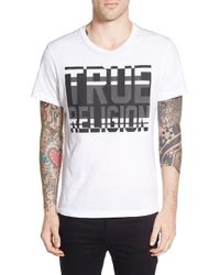 ae6841eca Lyst - True Religion  high Classic Fade  Graphic T-shirt in White ...