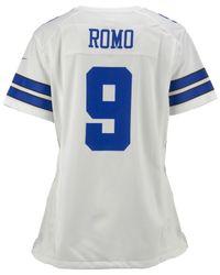 Nike - White Women's Tony Romo Dallas Cowboys Game Jersey - Lyst