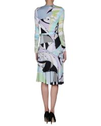 Emilio Pucci - Green Knee-length Dress - Lyst