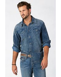 True Religion | Blue Jake Mens Western Shirt for Men | Lyst