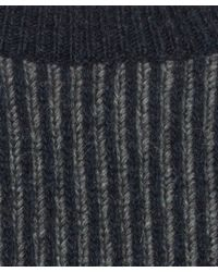Nudie Jeans Blue Navy Aron Recyled Two Colour Chunky Knit Jumper for men